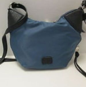 Co-Lab May-Lynn Teal expandable nylon crossbody